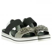 Sandaletten aus Leder mit Plateausohle