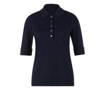 Kurzarm Pullover in Polo-Optik