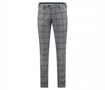 Regular-Fit Chinohose mit Glencheck-Muster
