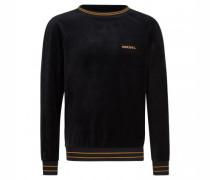 Sweatshirt in Samt-Optik