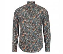 Slim-Fit Hemd 'Flower'