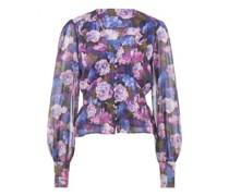 Fließende Bluse mit floralem Muster