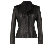 Lederjacke in Blazer-Optik