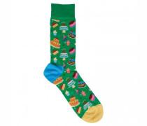 Socken mit Torten-Motiv