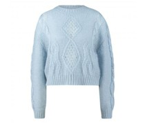 Cropped Pullover mit Mohair-Anteil