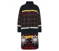 Mantel mit Ethno-Jacquard Muster