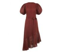 Asymmetrisches Kleid 'Bella' mit Lochspitze