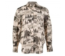 Bluse mit All-Over Muster