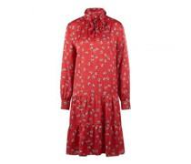 Kleid mit Schluppe zum Binden und All-Over Blümchendruck