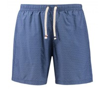 Badeshorts mit All-Over Muster