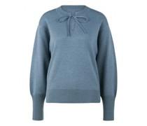 Pullover mit Bindeband und Bündchen