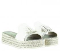 Sandaletten aus Leder mit Quastendetail