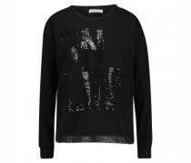Sweatshirt mit Pailletten Wording