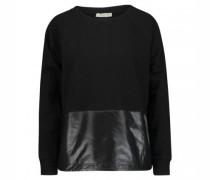 Sweatshirt mit spotivem Materialmix