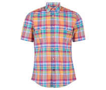 Baumwollhemd mit Glencheck-Muster