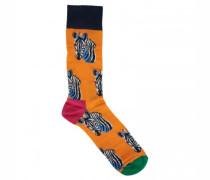 Socken mit Zebra-Motiv