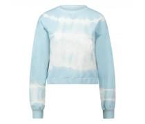 Sweatshirt mit All-Over Batik Muster
