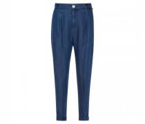 Hose mit elastischem Bund in Jeans-Optik