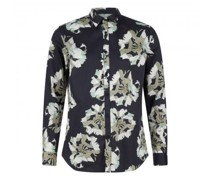 Regular-Fit Hemd mit floralem Muster