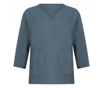 Pullover mit Schlitzausschnitt