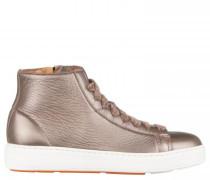 Hightop Sneaker aus Leder