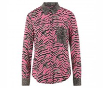 Bluse mit All-Over Animal Mustermix