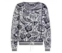 Pullover mit floraler Musterung