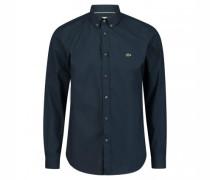 Slim-Fit Hemd mit Button-Down Kragen