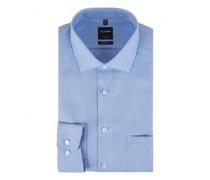 Modern-Fit Hemd mit Webmusterung