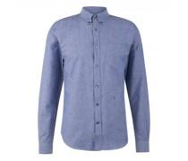 Regular-Fit Hemd aus Leinen-Mix