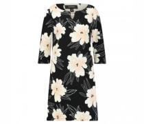 Kurzes Jerseykleid mit All-over Blumendruck
