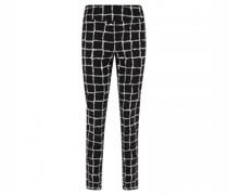 Hose mit elastischem Bund in grafischer All-Over Musterung