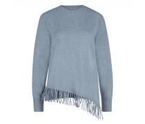Pullover mit Fransenabschluss