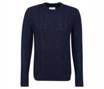 Pullover 'Kveite' mit Strickmusterungen