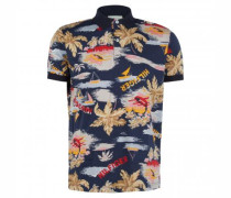 Poloshirt mit All-Over Print