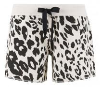 Shorts mit Leomuster