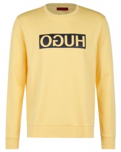 Baumwoll-Pullover mit Aufdruck