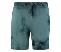 Sweat Bermuda mit Batik-Muster