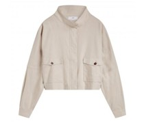 Oversize Jacke mit Stehkragen