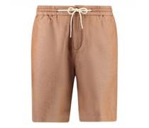 Shorts aus Leinen-Mix