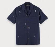 Kurzarm Hemd mit Musterung