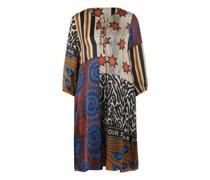 Fließendes Kleid mit All-Over Muster