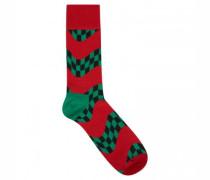 Socken mit Musterung