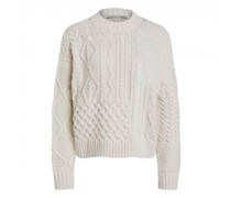 Pullover mit Zopf-Muster