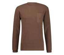 Sweatshirt mit Rundhalsausschnitt und Brusttasche