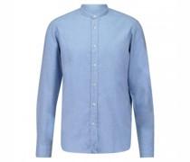 Flanellhemd mit Stehkragen