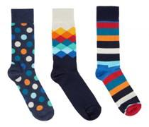 Geschenkbox 3er-Set Socken in Multi Colour