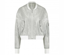 Blousonjacke in Metallic-Optik