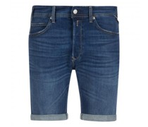 Jeansshorts mit Aufschlag