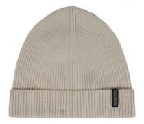 Mütze aus Material-Mix